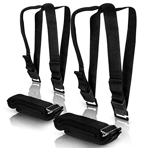 Retramo ® Transportgurte – Befestigungsgurte für [2] Personen – Verstellbarer Hebegurt für bis zu [650 kg] – Praktisches Set [2] zweiteilige Tragegurte – [3] Meter lang (Polypropylen)