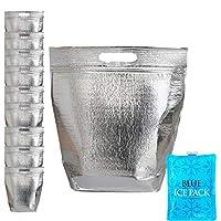 断熱イージージップロック再密封可能なアルミニウムサンドイッチバッグ – 再利用可能な保温ランチスナック弁当ピクニックホット&コールドポーチ(10、Mサイズ–9.8 x 10.9インチ)