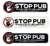 Stop Pub - Placa de cartón con letras para caja de letras o pegatinas, sin publicidad, resina epoxi anti UV, ultra resistente, flexible y duradera, adhesivo de alta calidad