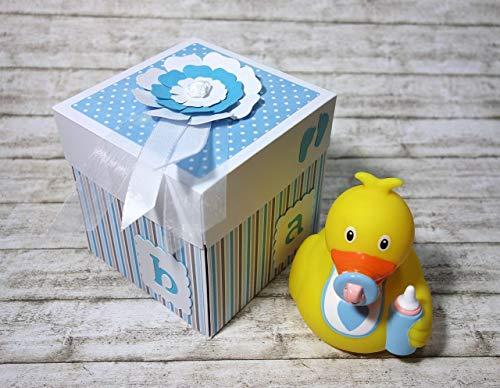 Geldgeschenk Geschenk Verpackung Explosionsbox zur Geburt Baby Junge