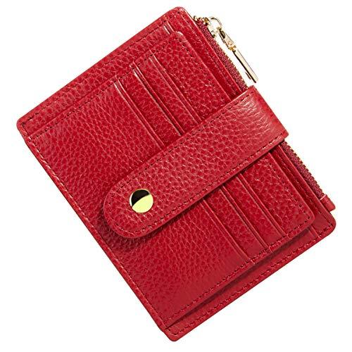 marsupio donna piccolo BTNEEU Porta Carte di Credito in Pelle RFID Blocco Portafoglio Sottile con Portamonete