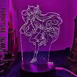 3D LED Decorative lights Acrylic Led Light Anime Sword Art Online Lisbeth Figure for Bedroom Decor Night Light Birthday Gift Room LED 3D Lamp Manga SAO Party Bar Atmosphere