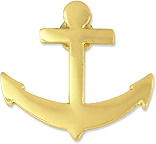 Gold Plated Nautical Boat Anchor Lapel Pin