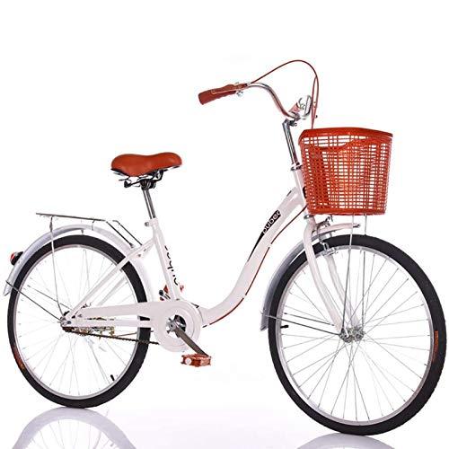 GOLDGOD Bicicletas De Crucero para Mujeres, Ligero Ocio Cruiser Bike 24 Pulgadas...