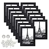upsimples 5x7 Picture Frames Made of Synthetic Wood High Definition Glass for Wall or Tabletop Display,Black Photo Frame,14 Pack