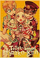 地縛少年花子くん大人と初心者の刺繡アートクラフトクロスステッチ壁飾り部屋の装飾(正方形、40x50cm)用ダイヤモンド絵画キット