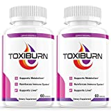 (2 Pack) Toxiburn Weight Loss Pills Liver Cleanse Diet Capsules Supplements Reviews Toxi Burn Advanced Pills (120 Capsules)