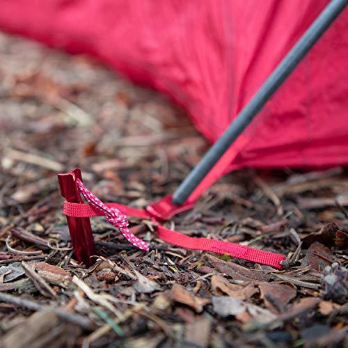 MSR Groundhog Tent Stake Kit, 6-Pack, Regular - 7.5-Inch , Red