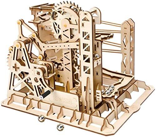 ZOUQILAI Rompecabezas de Madera Modelo, 3D montaña Rusa Vaivén Kit Modelo mecánico del Corte del Laser de Madera Edificio del Rompecabezas