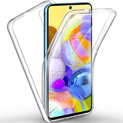 TBOC Funda para Samsung A71 [6.71'] - Carcasa [Transparente] Completa [Silicona TPU] Doble Cara [360 Grados] Protección Integral Total Delantera Trasera Lateral Móvil
