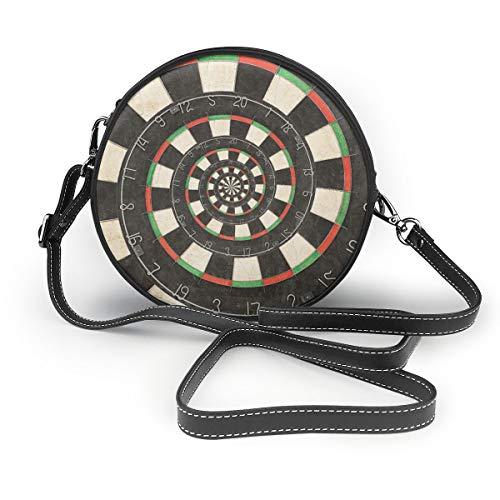 Not Applicable Dart Board Droste Damen Geldbörse, rund, weiches Leder, Kreis, Weiß - Spirale Dartscheibe Droste - Größe: Einheitsgröße