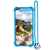 Case for ZTE N818S QLink Wireless Case Silicone Border + PC Hard backplane Stand Cover L