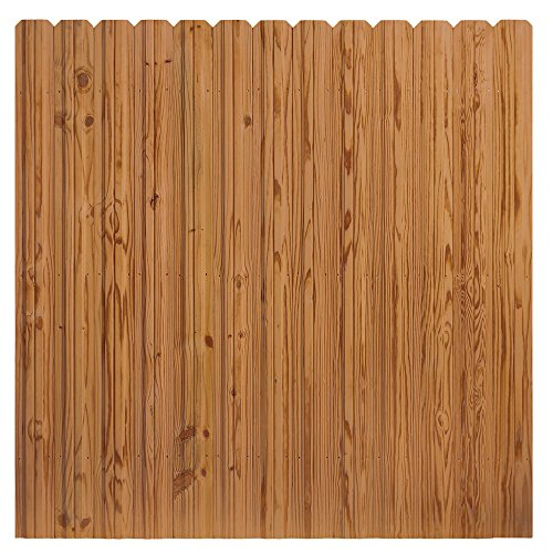 Outdoor Essentials Pressure-Treated Cedar-Tone Multi-Style Fence Panel Kit, 6 ft. x 6 ft.