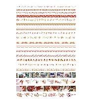 ハンドアカウントテープかわいいと紙テーププラスチック純赤色印刷ハンドアカウント材料装飾ステッカー,05