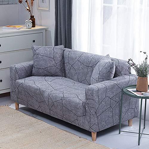 WXQY Fundas de sofá elásticas geométricas Fundas de sofá elásticas para Sala de Estar Protector de Muebles sofá Toalla Funda de sofá A10 3 plazas