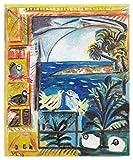 JH Lacrocon Las Palomas Cannes 1957 de Pablo Picasso - 100X120 cm Pinturas Abstracto a Mano Reproducción sobre Lienzo Enrollado Decoración Pared para Salón