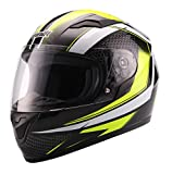 UNIK Ci-01 Integral Helmet with Solar Glasses Casco, Hombre, Beep Fluor/Black/Blanc, XX-Large