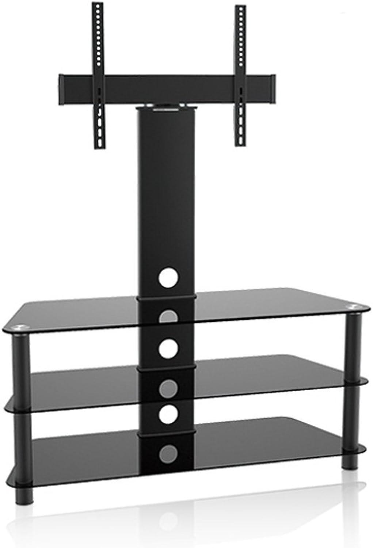 Maclean MC-641 QLED, OLED, LED, LCD, Plasma Halterung bis 55  40kg Standfu, Schrank 3 Regalen Halter schwarz
