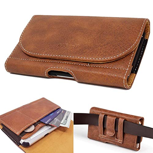 AISCELL Wallet Belt Clip Case Brown Leather Pouch Holster for Galaxy Note20 Ultra, Note20 ,A11 , A71 ,S20+,S20,Note 10+,S10+, A50 ,A51,A20, S20 Fan Edition,with Slim Cover Case on 09