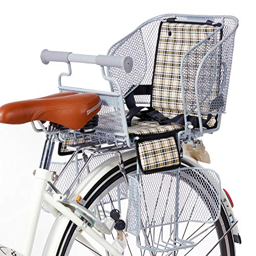 WSDSB Asiento Infantil para Bicicleta, Sillín de Bicicleta de Montaje Trasero para Niños de 1 a 4 Años (hasta 30KG), Compatible con Todas Las MTB Adultos