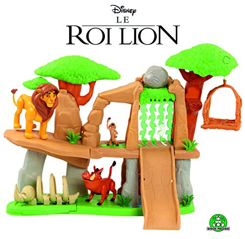 Le Roi Lion LNN07000 - Il re Terra dei leoni Disney con 3 personaggi e accessori