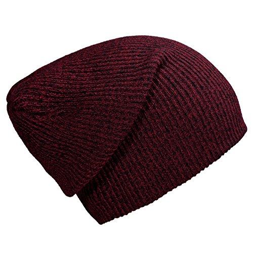 DonDon gorro de invierno para hombres y mujereso slouch beanie diseño clásico...