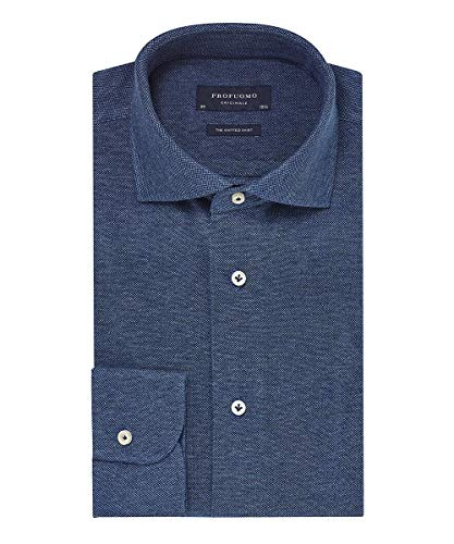 Profuomo Originale Slim fit Knitted Herren Business Hemd Langarm