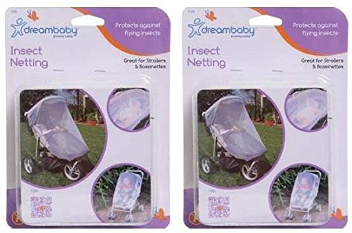 Dreambaby Insect Bug Netting for Strollers, Play Yards, Carriers, and Travel Systems (Stroller, 2 Pack)