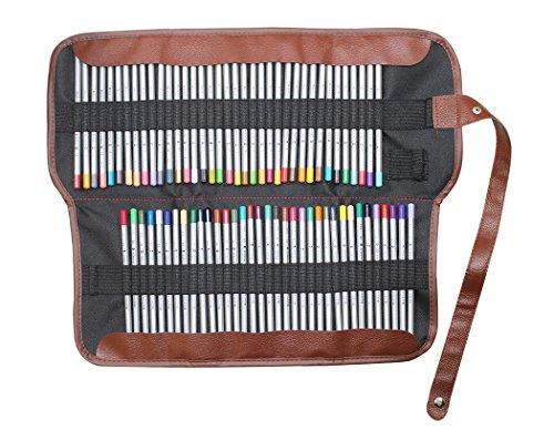 Gullor toile d'insertion rétro croquis dessin poche crayon wrap rouler cas sac de rangement de support - 72 couleurs