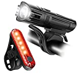 Apremont 450 Lumen Bike Lights Front and Back Set - Bicycle Accessories for Night Riding - USB Rechargeable Bike Light Set, Waterproof, LED Safety Flashlight Cycling Accessories - Adult Kid MTB Helmet