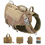 PET ARTIST Tactical Dog Harness for Hiking Training, No Pull...