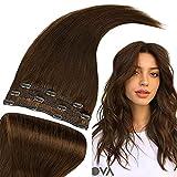 RUNATURE Extensiones De Cabello Clip 10 Pulgadas Color 4 Marrón Chocolate Clip in Hair Extensions Extensiones De Cabello Natural 3Pcs 50g