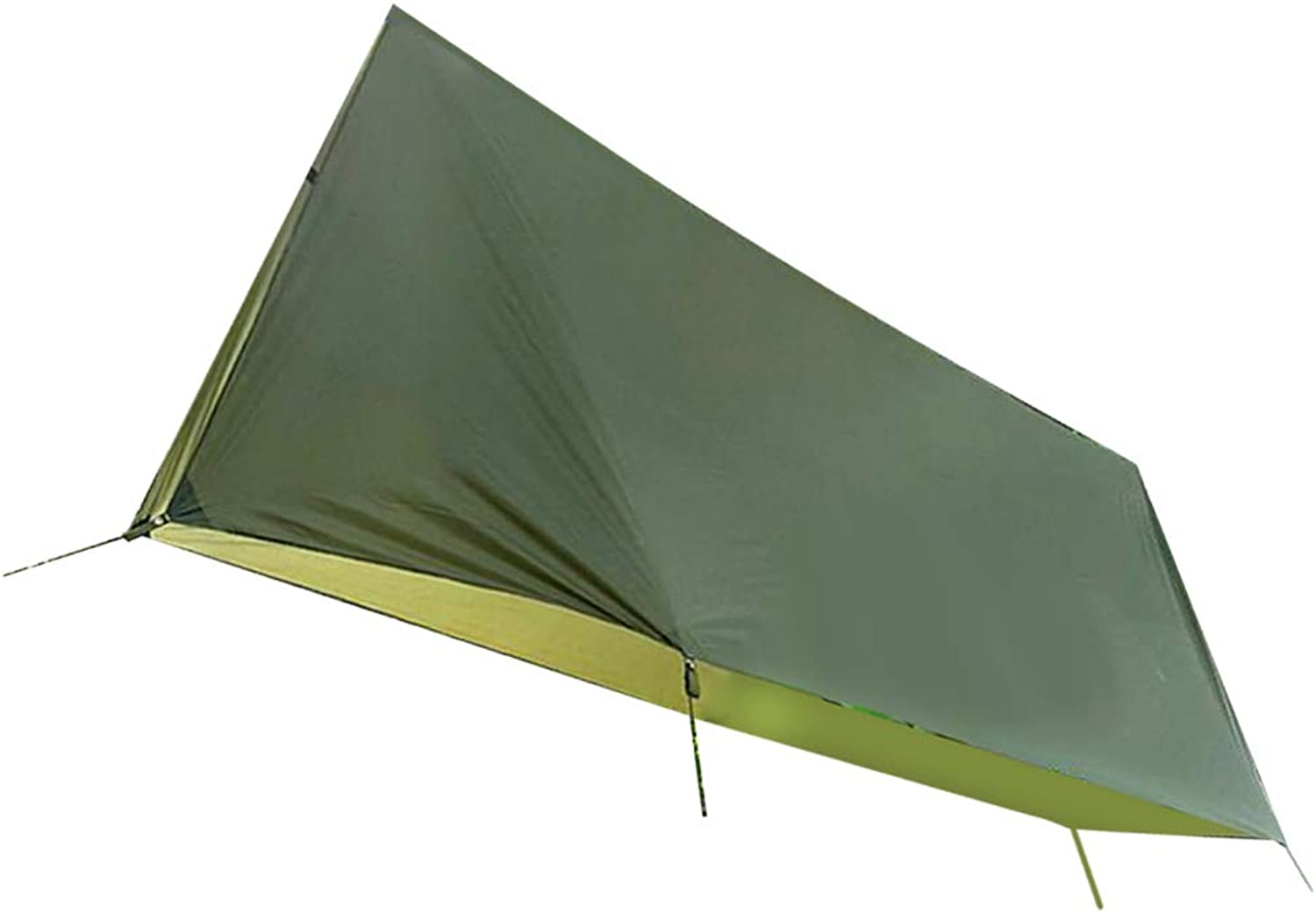 Baosity Polyester Waterproof Camping Tent 4 People Sun Rain Shelter Tent Tarp Cover, Army Green