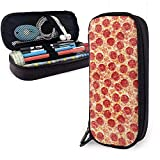 Yummy Pizza Pencil Pen Case, bolsa de maquillaje de gran capacidad para bolsa de lápices