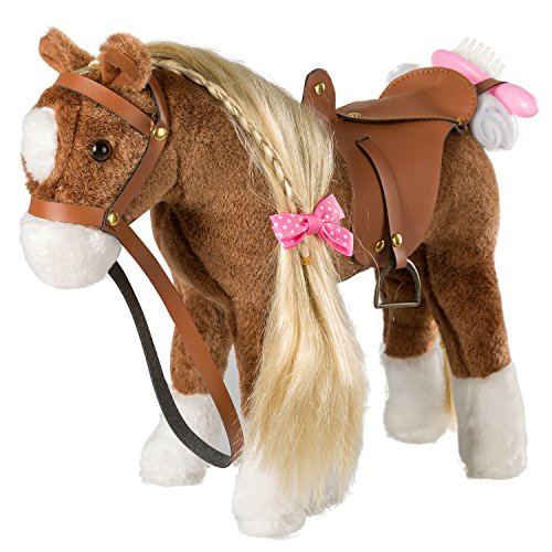 HollyHOME Stuffed Animal Horse Pretty Plush Toy Pretend Play Horse 11 inches...
