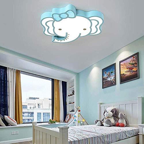 WEM Candelabros novedosos, elefante de dibujos animados para niños, habitación, dormitorio, lámpara de techo, minimalista moderno, llevó la lámpara de techo para niños y niñas, personalidad creativa,