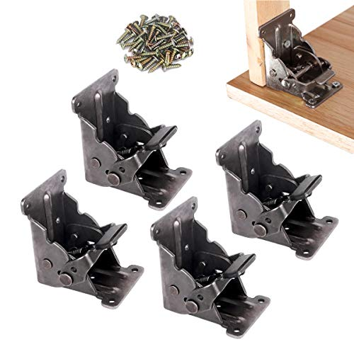 4 Pack Folding Brackets, TopDirect Lock Extension Support Bracket...