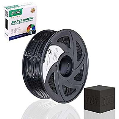 E-DA PLA 3D Printer Filament, PLA Filament 1.75mm 1KG, With High Strength and Better Toughness, 3D Printing Filament for 3D Printers, Dimensional Accuracy +/- 0.03mm, (Black)