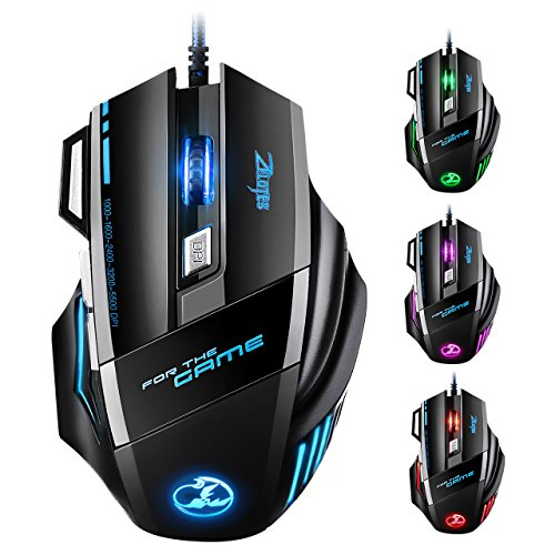 VicTsing Souris Gamer filaire -5500 dpi -7 boutons, Souris...