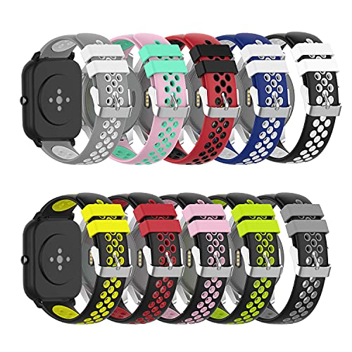 Smart Watch Bands Silicone Replacement Band for Willful ID205L/Yamay SW020,SW021,SW025/ID205U,ID205S,ID205G Watch Straps Accessories(10Pack)