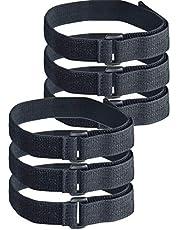 フルパ ゴムバンド マジック式 伸縮ベルト 結束バンド 荷締め アームガーターアウトドア 連結可能 (2.5cm×15cm 6本セット)