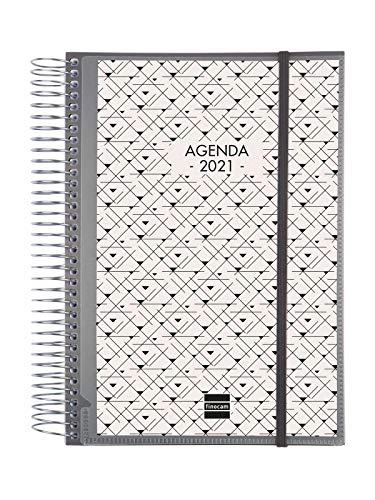 Finocam - Agenda 2021 1 Día página Espiral Personalizable Español