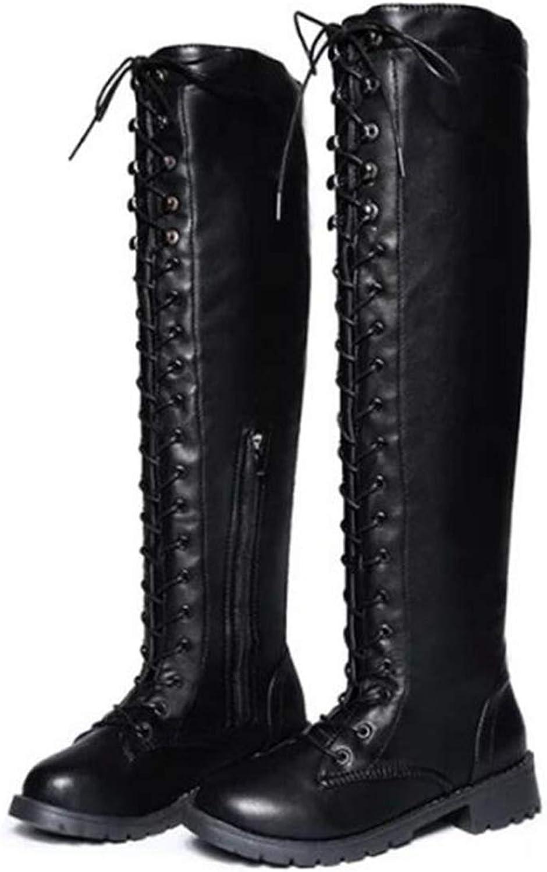 Hoxekle kvinnor Over the Knee High Boot Boot Boot Point Toe Lace Up Low Thick Heel Soft mocka Kvinna Martin Style Casual utomhus skor  Alla produkter får upp till 34% rabatt
