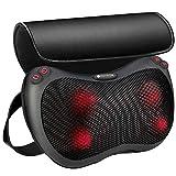 MOVEON Massagekissen, Shiatsu Elektrische Massagegerät, Nackenmassagegerät mit Wärmefunktion und 3D-rotierenden, Rücken Massagegeräte, für Nacken Schulter, Haus Büro Auto