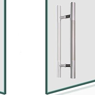 Armrest Outdoor Indoor Universal Stair Handrail,Thick Brushed Stainless Steel Door Handle, Office Push-Pull Door Handle/Gl...