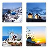 Santorin Griechenland - Set A schwebend, 4-teiliges