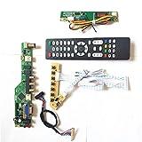 Para LP154WX4-TLC5/TLC6 LVDS 1CCFL 30Pin LCD panel monitor T.V53 tarjeta de unidad teclado+mando a distancia+inversor HDMI VGA USB AV RF Kit (LP154WX4-TLC5)