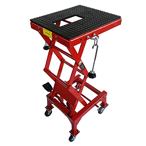 BEMOFRLAY Motorcycle Dirt Bike Lift Jack Hoist Stand Table Height Adjustable Lifting Stand
