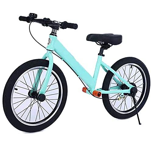JLXJ Bicicleta Sin Pedales Equilibrio Bicicleta de Equilibrio para Niños Grandes para Adultos con Freno/Neumáticos de Aire de 18 Pulgadas/Reposapiés Bicicleta Grande Sin Pedales para Niños Niñas