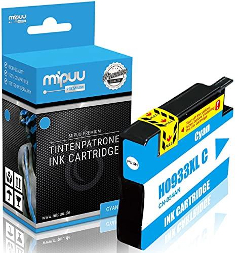 Mipuu Tinta compatible HP 933XL CN054AE (cian) para HP Officejet 6100 6600 6600E 6700 7110 7110 7510 7510A 7510 Wide 7610 7610AIO 7612-16ml